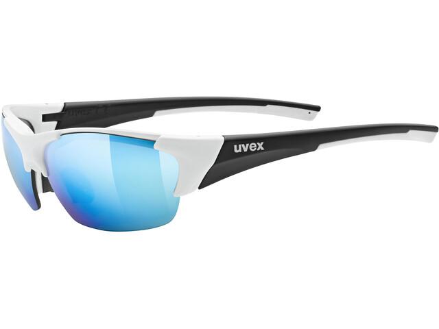 UVEX Blaze III Glasses white/black matt/mirror blue